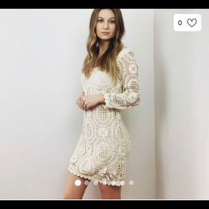 French connection ivory crochet dress 6